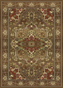 Brown Mighty Fortress Woven Rug