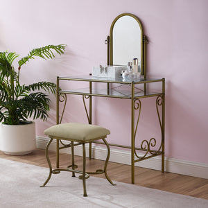Clarisse Antique Gold Vanity Set