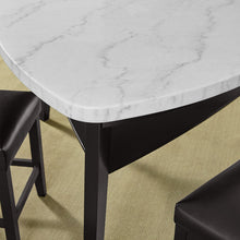 WEEKLY or MONTHLY. Carrara Marble Top Table & 4 Counter Chairs & Storage Bench