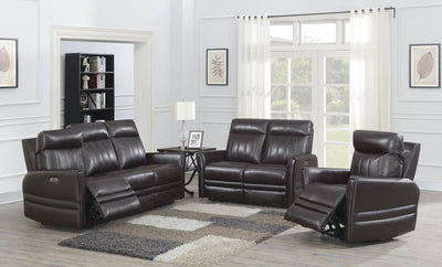 WEEKLY or MONTHLY. Coachella Top Grain Leather Double POWER Couch Set