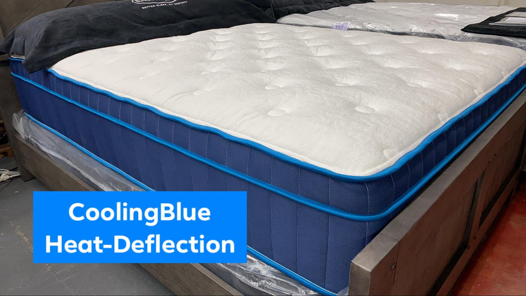 WEEKLY or MONTHLY. Elsa Snow Cooling Blue King Mattress