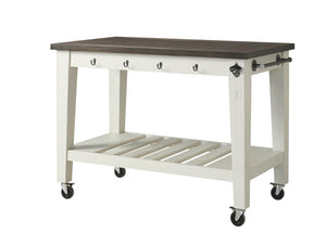 WEEKLY or MONTHLY. Cayla Two Tone Kitchen Cart