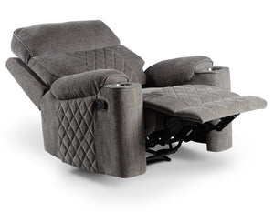 WEEKLY or MONTHLY. Bill Crawford Manual Gray Recliner