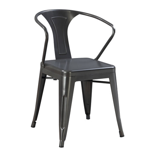 Dakota Metal Dining Arm Chair (2-Pack)