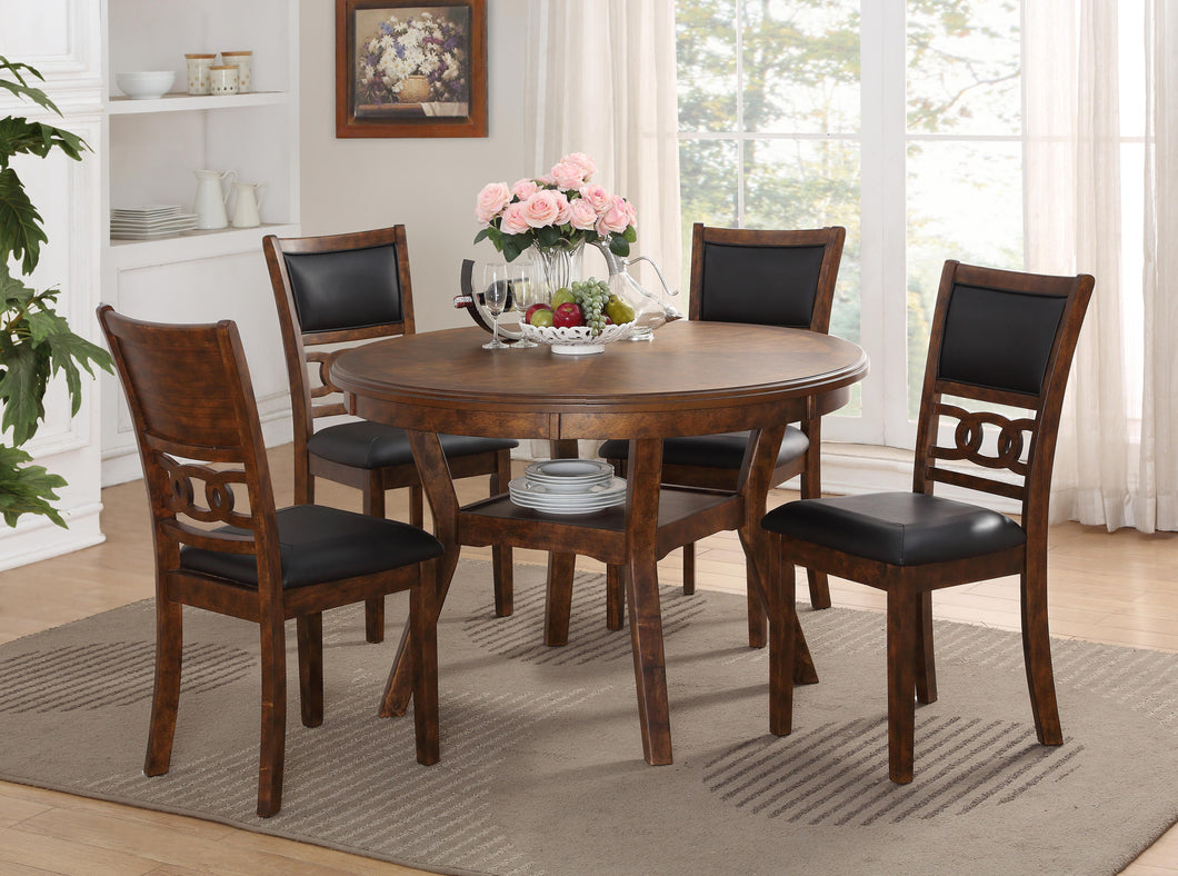 WEEKLY or MONTHLY. Gia Dining Set in Brown