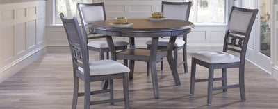 WEEKLY or MONTHLY. Gia Dining Set in Grey