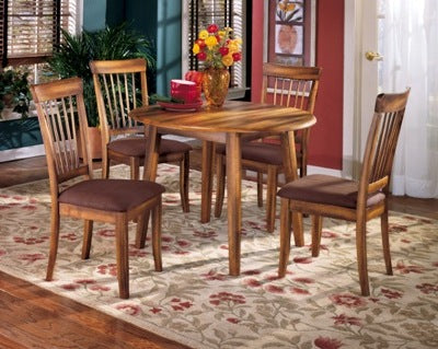 WEEKLY or MONTHLY. Berringer Drop Leaf Table + 4 Chairs