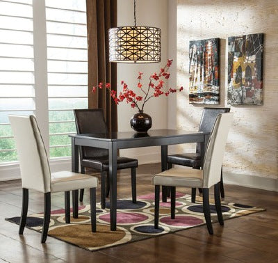 WEEKLY or MONTHLY. Kinmonte Dining Table + 4 Chairs