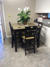 WEEKLY or MONTHLY. Freshburg Square Pub Table & 4 Chairs