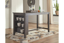 WEEKLY or MONTHLY. Caitbrook Dark Gray Counter Height Dining Set