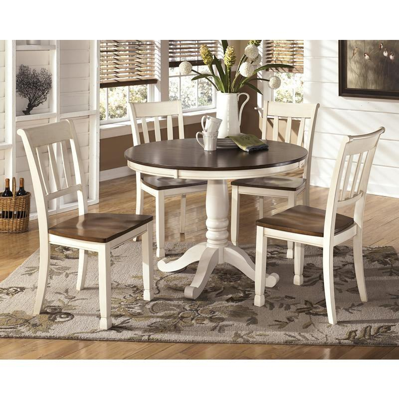 WEEKLY or MONTHLY. Whitesberg Round Dining Table &  4 Side Chairs