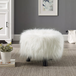 White Daze Fur Stool