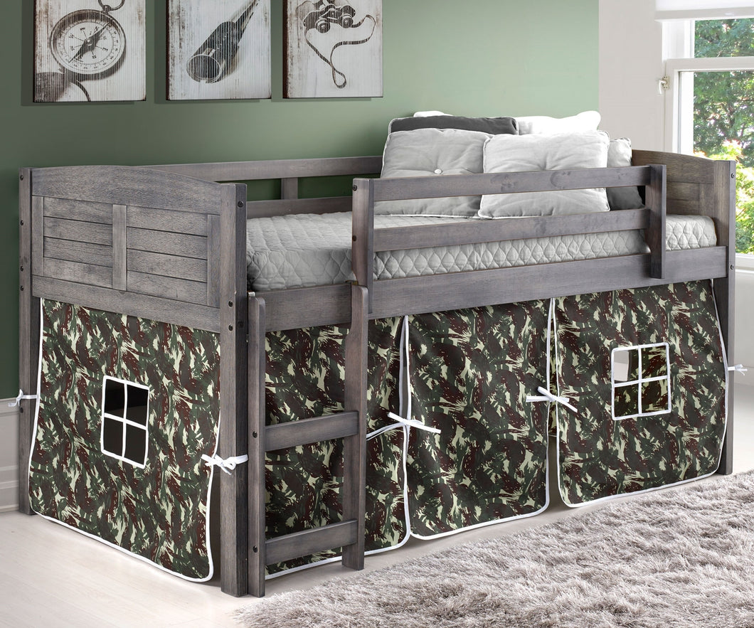 WEEKLY or MONTHLY. Twin Loft Bed with Camo Tent