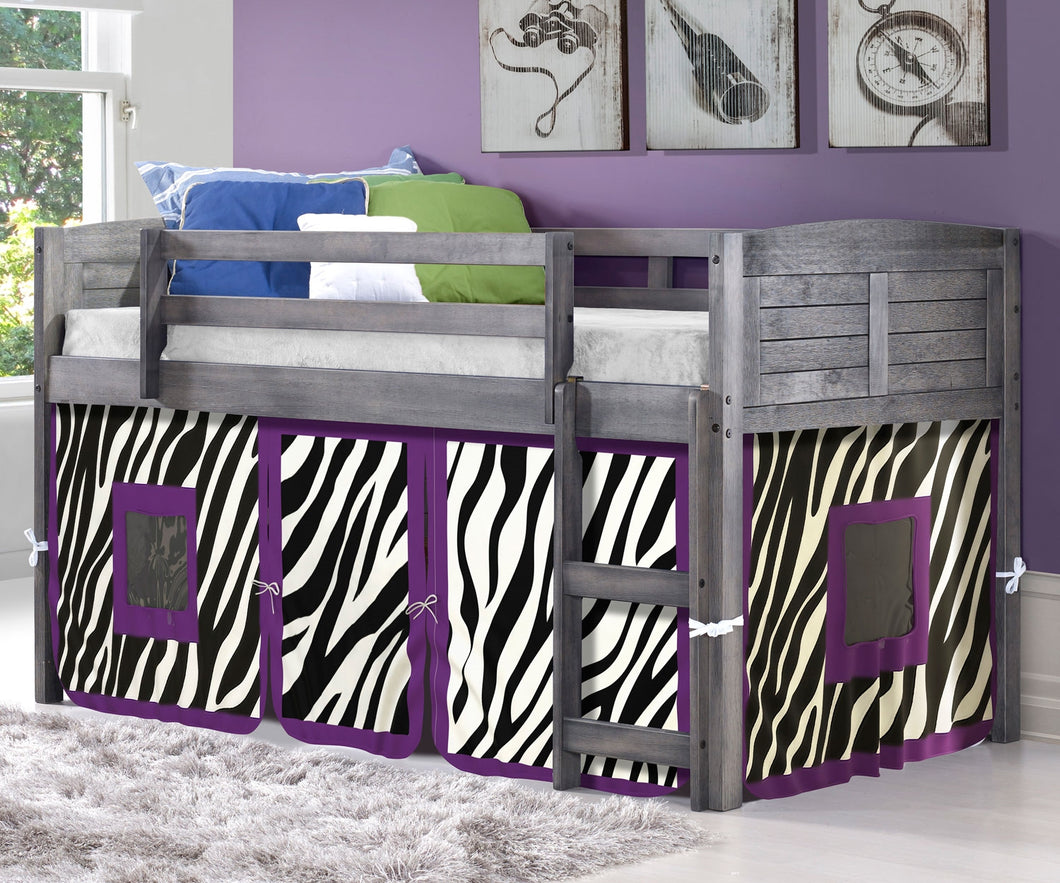 WEEKLY or MONTHLY. Twin Loft Bed with Zebra Tent