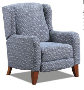 WEEKLY or MONTHLY. Desertsand High Leg Recliner in Indigo