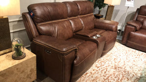WEEKLY or MONTHLY. Freshno Leather Power Couch Set