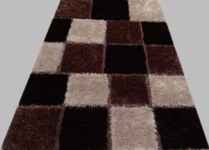 Creamy and Dark Brown Rug Flavor