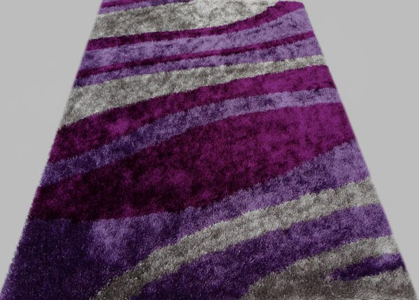 Clean Lilac Rug with Light Gray Lines