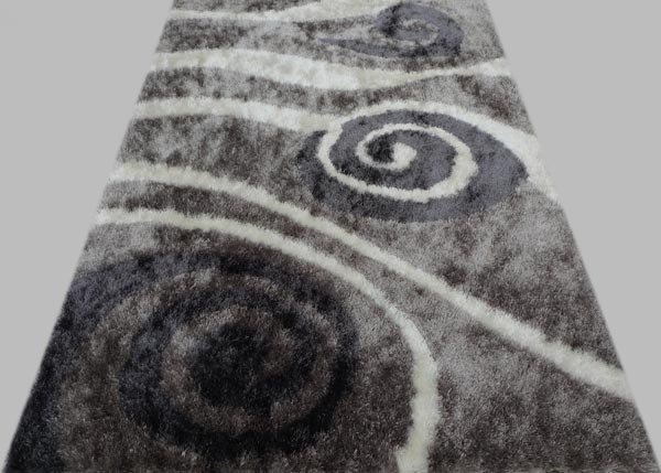 Titanium Rug with Spiral Design