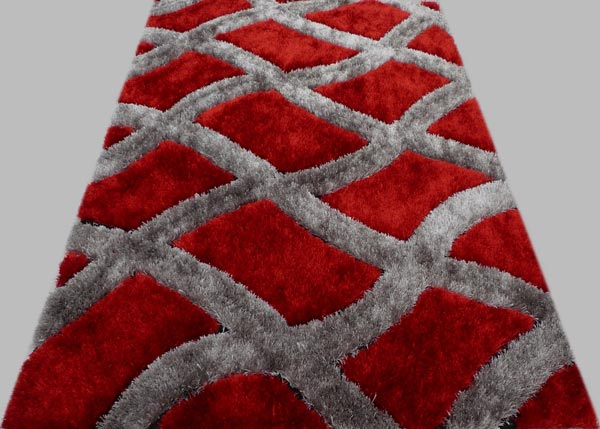 Flashing Red Rug