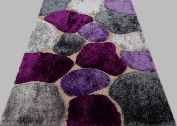 Big Lilac Rock Design Rug