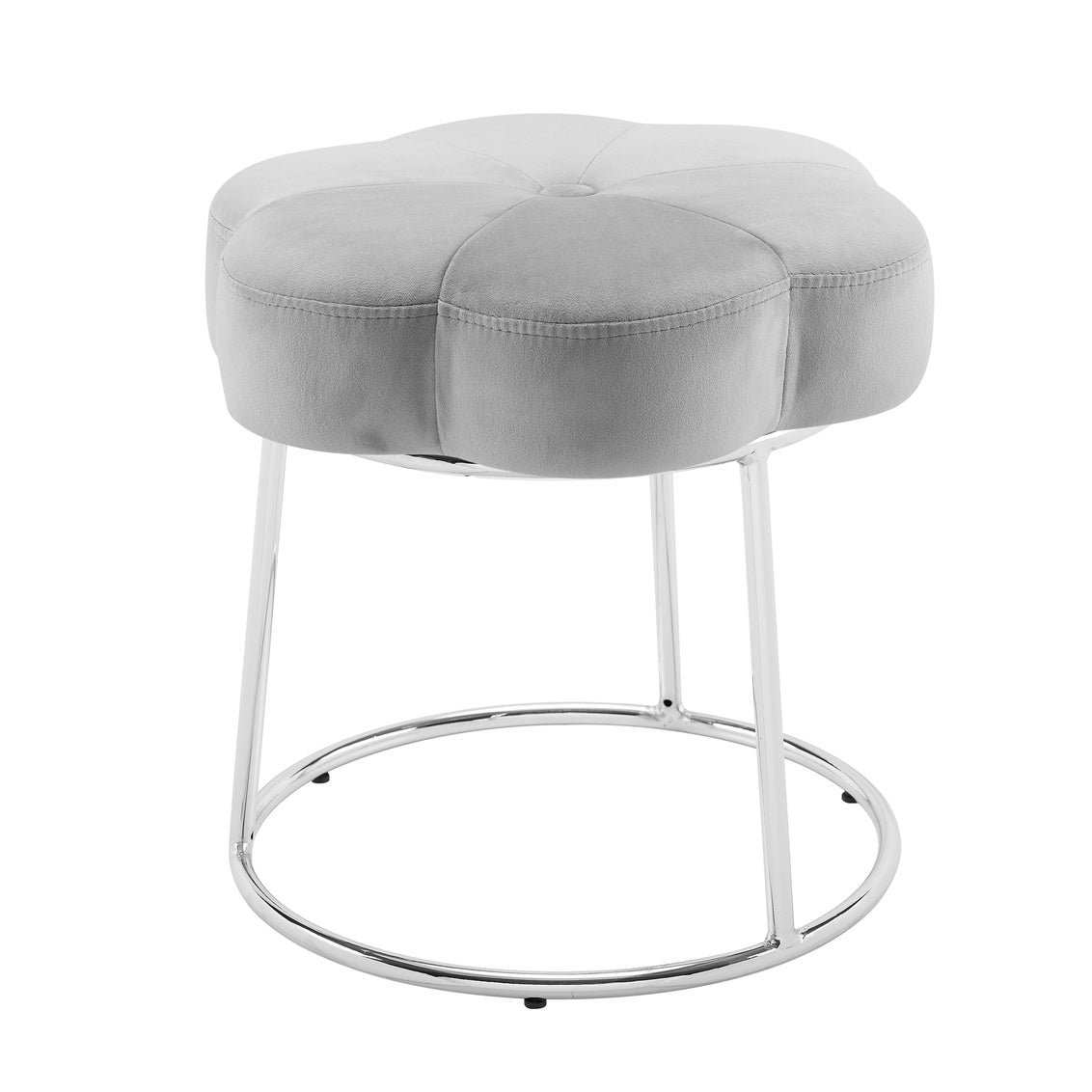 Grey Flower Vanity Stool Community Furnishings