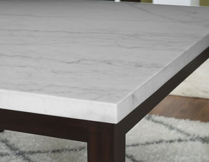 WEEKLY or MONTHLY. Francis Square Counter Marble Top Table & 6 Counter Chairs