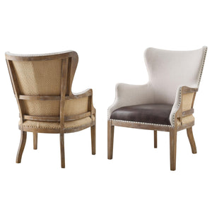 WEEKLY or MONTHLY. Mister George Two-tone Wingback Accent Chair