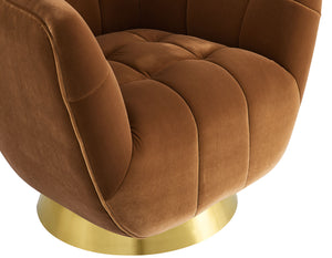 WEEKLY or MONTHLY. Hannah Rust Velvet 360° Swivel Accent Chair