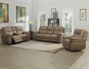 WEEKLY or MONTHLY. Princess Belle Reclining Couch Set in Gray