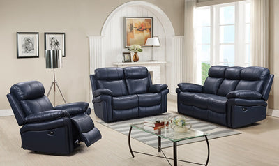 WEEKLY or MONTHLY. Babe the Blue Ox Genuine Leather Power Couch Set