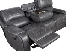 WEEKLY or MONTHLY. Kyle Ashby Gray Riveted Nailtrim Motion Couch Set