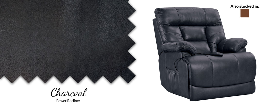 WEEKLY or MONTHLY. Softie P3 Charcoal Power Recliner with PWR Headrest
