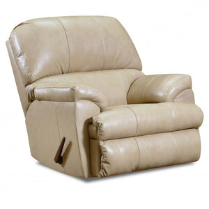 WEEKLY or MONTHLY.  Puffy Putty Montego Genuine Leather Rocker Recliner