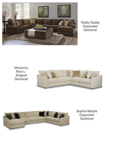 WEEKLY or MONTHLY. Sophie Marble Sofa and Loveseat