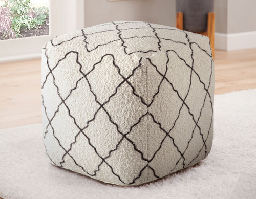 Lattice Handwoven Pouf
