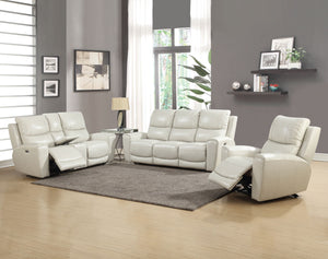 WEEKLY or MONTHLY. Lotus Leather Power Couch Set in Gray