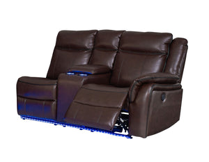 WEEKLY or MONTHLY. I'm Happily Levin Power Brown Sectional