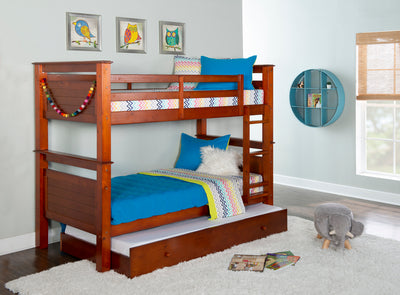 Matthew Walnut Twin over Twin Bunk Bed with Trundle