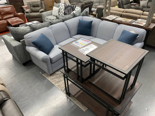 WEEKLY or MONTHLY. Macarena Atlantic Blue Denim Sectional