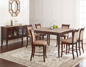 WEEKLY or MONTHLY. Bob Marseille Counter Height Table & 6 Counter Chairs