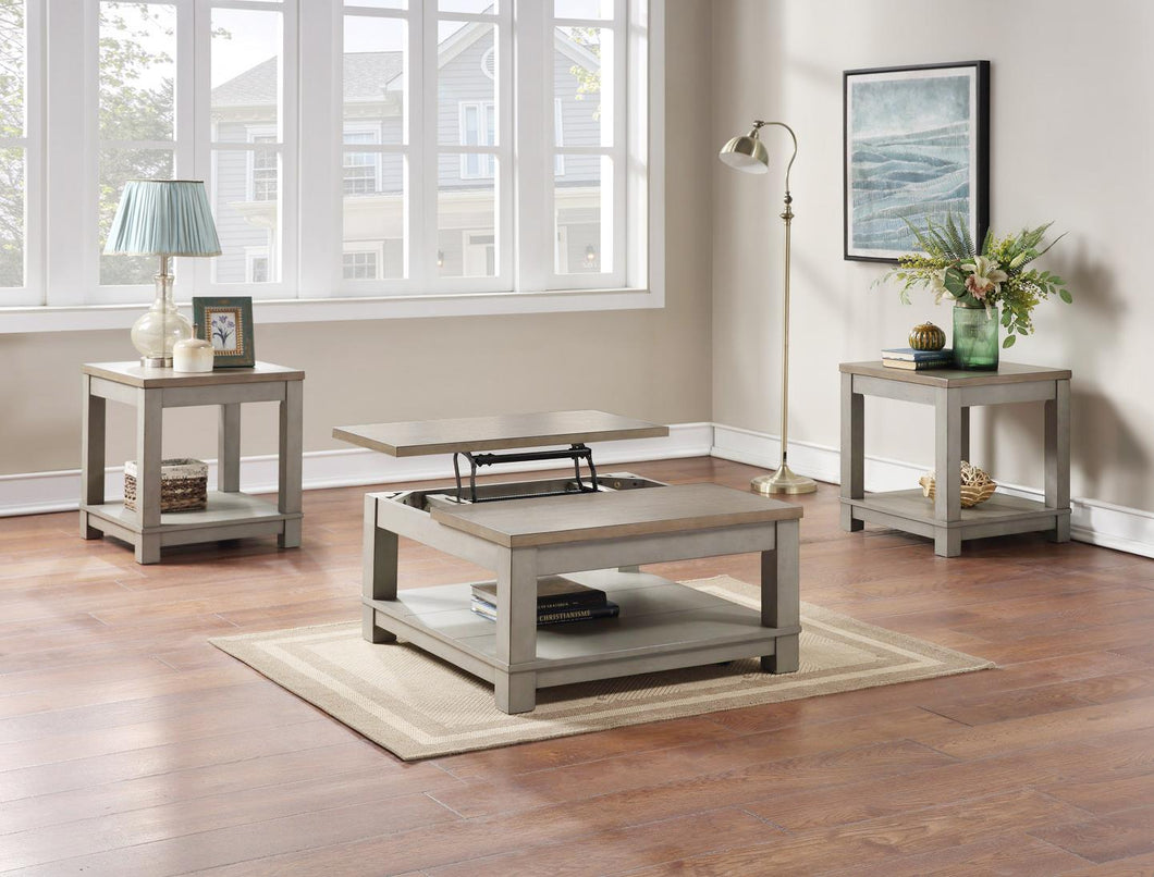 WEEKLY or MONTHLY. Brady Coffee Table with Half Lift-Top