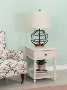 White Pike Side Table