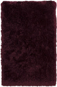 BURGUNDY Polar Fur Rug Bear Shape