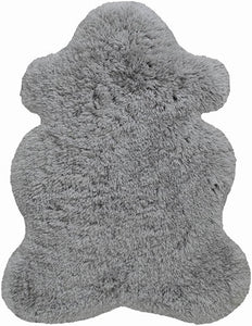 BEIGE Polar Fur Rug Bear Shape