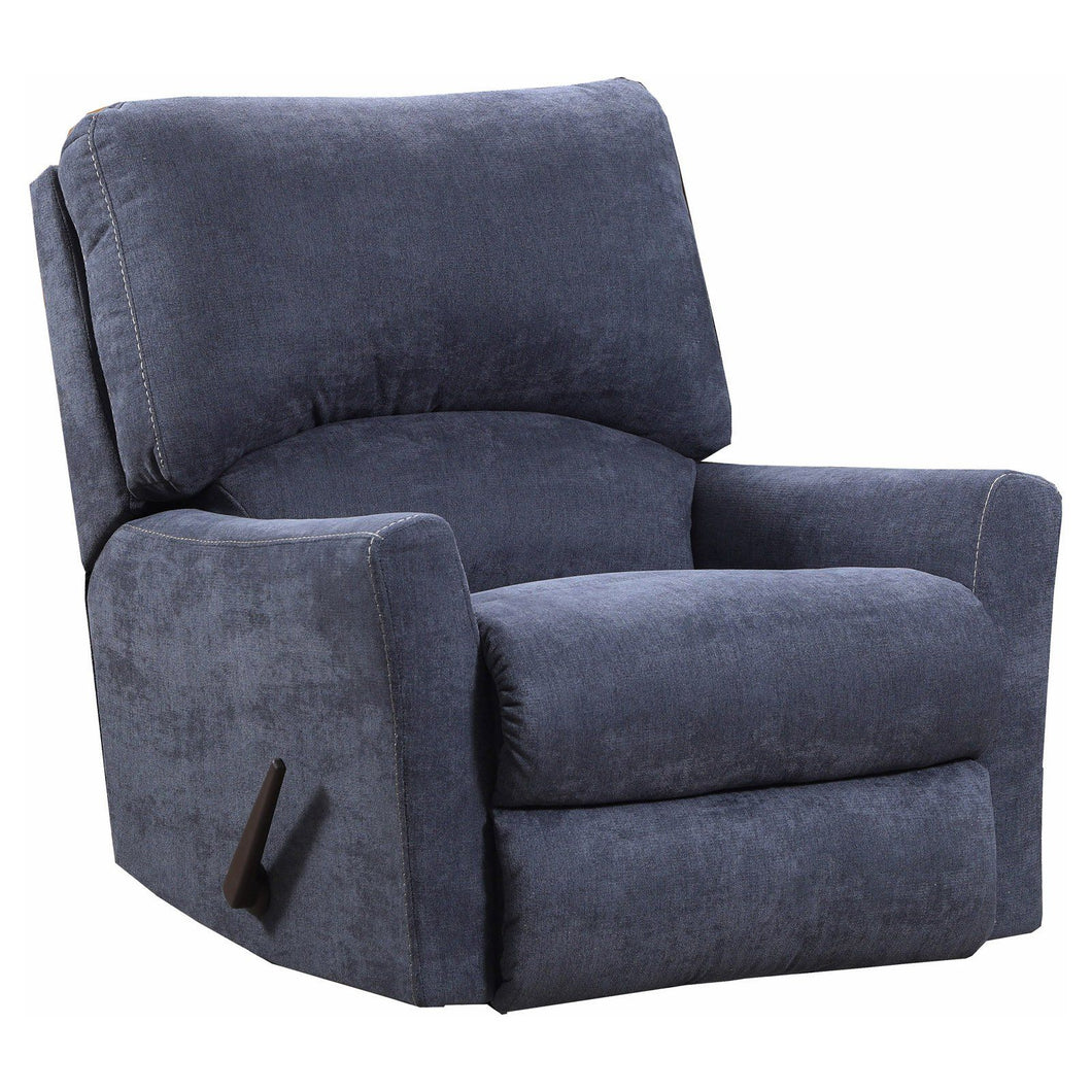 WEEKLY or MONTHLY. Great Pacific Power Recliner in Steel Blue