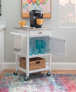 WEEKLY or MONTHLY. White Sydney Apartment Cart
