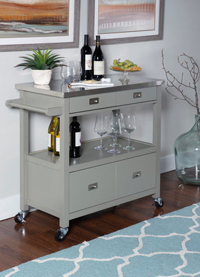 WEEKLY or MONTHLY. Grey Sydney Kitchen Cart