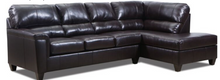 WEEKLY or MONTHLY. Soft Touch Genuine Leather Sectional in BARK