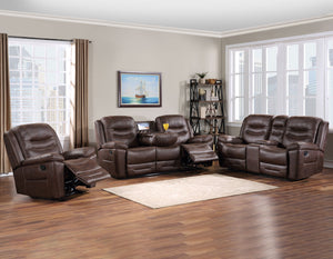 WEEKLY or MONTHLY. Stanson Manual Reclining Couch Set